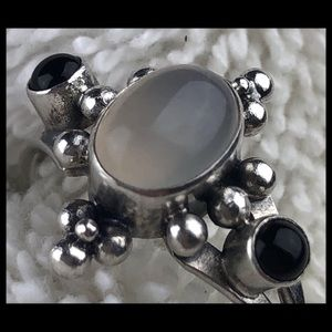Jewelry - MOONSTONE/ONYX & STERLING RING